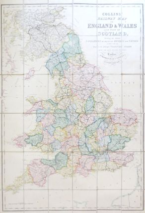 Collins' Railway Map of England & Wales and Part of Scotland, Shewing the Inland Navigation by...