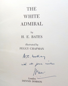 The White Admiral. Illustrated by Peggy Chapman. H. E. BATES