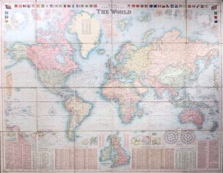Bacon's New Chart of the World. Mercator's Projection. G. W. BACON.