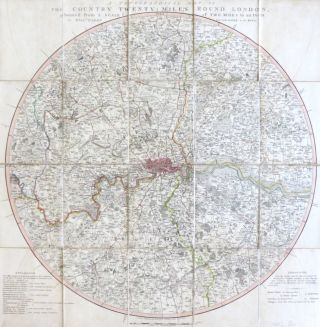 A Topographical Map of the Country Twenty Miles Round London, Planned from a Scale of Two Miles...