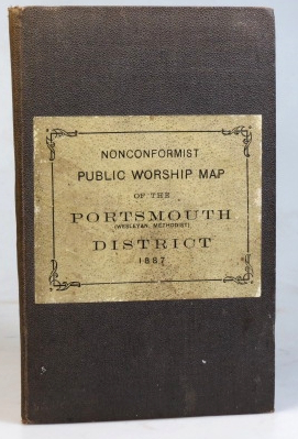 Nonconformist Public Worship Map of the Portsmouth Wesleyan Methodist District. Reduced from the New Ordnance Survey Divided into 3-Mile Squares. Compiled from Official Returns by...