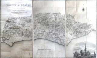 Map of the County of Sussex from an Actual Survey Made in the Years 1823 & 1824. C. GREENWOOD, J.