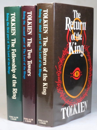 The Lord of the Rings. The Fellowship of the Ring. The Two Towers. The Return of the King. J. R. R. TOLKIEN.