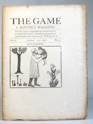 The Game. A Monthly Magazine. Vol. IV, No. 3. March 1921. SAINT DOMINIC'S PRESS.