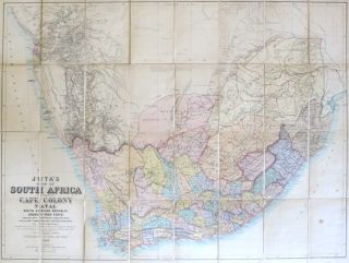 Juta's Map of South Africa Containing Cape Colony, Natal, South African Republic, Orange Free...