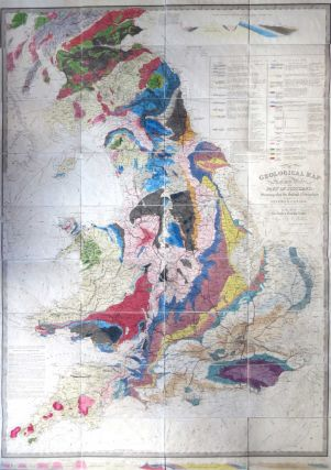 A Geological Map of England & Wales, and Part of Scotland, Showing also the Inland Navigation by...