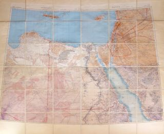 Composite Map Showing Part of Libya, Egypt and part of the Middle East, including Israel, Jordan,...