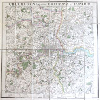 Cruchley's Improved Environs of London. G. F. CRUCHLEY