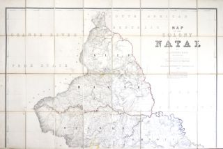 Map of the Colony of Natal. Compiled from the Diagrams and General Plans in the Surveyor General's Office, and then Data Furnished him by P.C. Sutherland Esquire M.D. F.R.G.S. Surveyor General.