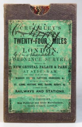 Cruchley's Railway and Excursion Map 24 Miles Round London.