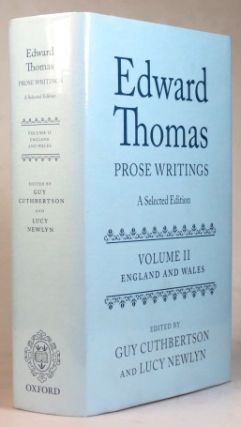 Prose Writings. A Selected Edition. Volume II - England and Wales. Edited by Guy Cuthbertson and...