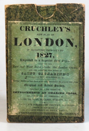Cruchley's New Plan of London Improved to 1827 Including East and West India Docks.