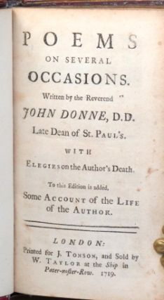 Poems on Several Occasions... With Elegies on the Author's Death [and] Some Account of the Life of the Author.