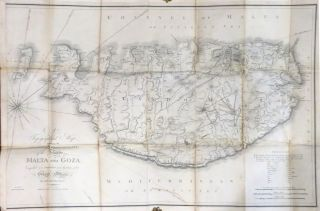 A Topographical Map Describing the Sovereign Principality, of the Islands of Malta and Goza...