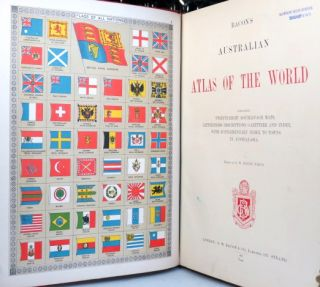 Bacon's Australian Atlas of the World. Containing... Maps, Letterpress Descriptions, Gazetter and Index, with Supplementary Index to Towns in Australia. Edited by...