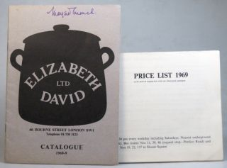 Catalogue 1968-9. Price List 1969. Elizabeth DAVID