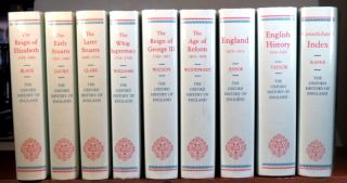 The Oxford History of England. Roman Britain. The English Settlements. Anglo-Saxon England. Domesday Book to Magna Carta. The Thirteenth Century. The Fourteenth Century. The Fifteenth Century. The Earlier Tudors. The Reign of Elizabeth. The Early Stuarts. The Later Stuarts. The Whig Supremacy. The Reign of George III. The Age of Reform. England 1870-1914. English History 1914-1945. Consolidated Index.