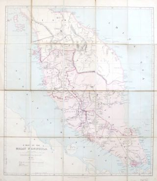 A Map of the Malay Peninsula. Edward STANFORD
