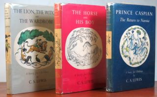 [The Chronicles of Narnia]. The Lion, the Witch and the Wardrobe. The Horse and his Boy. Prince Caspian. The Voyage of the Dawn Treader. The Silver Chair. The Magician's Nephew. The Last Battle. Illustrations by Pauline Baynes.