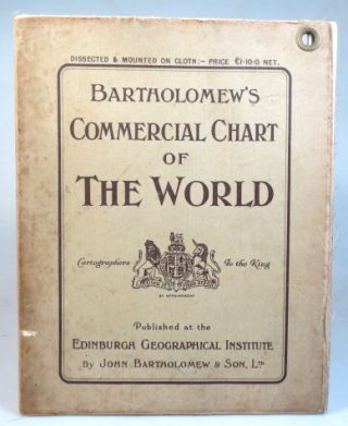 Bartholomew's Chart of the World on Mercator's Projection. [Cover title] Bartholomew's Commercial Chart of the World.