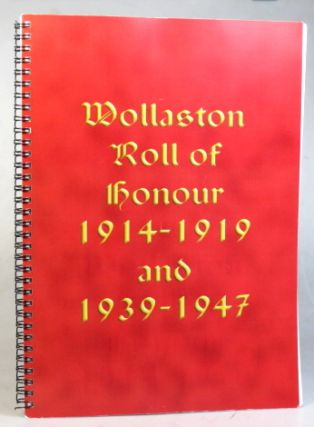 Wollaston Roll of Honour 1919-1919 and 1939-1947. WOLLASTON, Gordon HALL, Linda GROOM