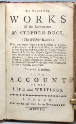 The Beautiful Works of... (The Wiltshire Bard)... To which is Prefixed, Some Account of His Life and Writings.