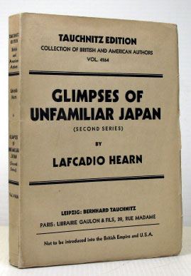 Glimpses of Unfamiliar Japan. (Second Series). Copyright Edition. Lafcadio HEARN